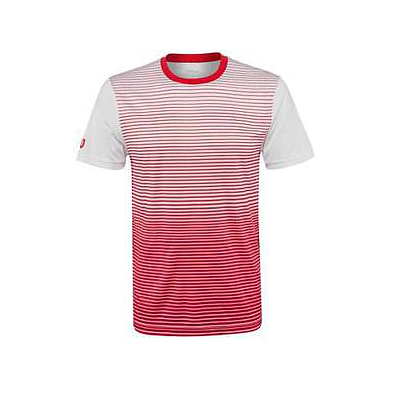 WILSON M TEAM STRIPED CREW RED/WHT