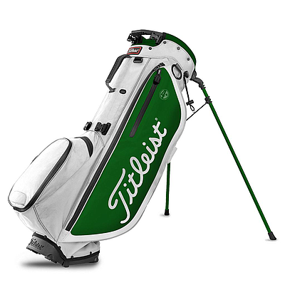 TITLEIST PLAYERS 4+ BAG WHITE GREEN
