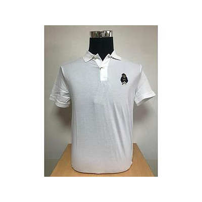 RALPH LAUREN SSKC PF BEAR-SHORT SLEEVE-KNIT WHITE