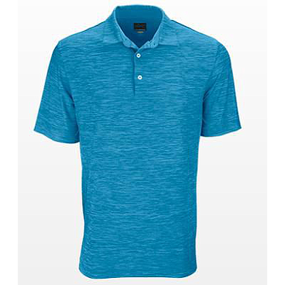 GREG NORMAN  HEATHERED SOLID POLO ATLATIC BLUE HTHR