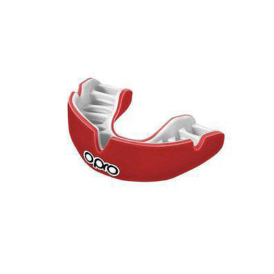 Power-Fit Adult Mouthguard - Single Colour - Red/White