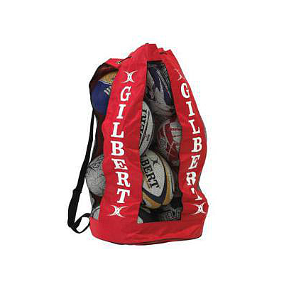 RUGBY BAG-BREATHABLE BALL (12 BALLS) RED -
